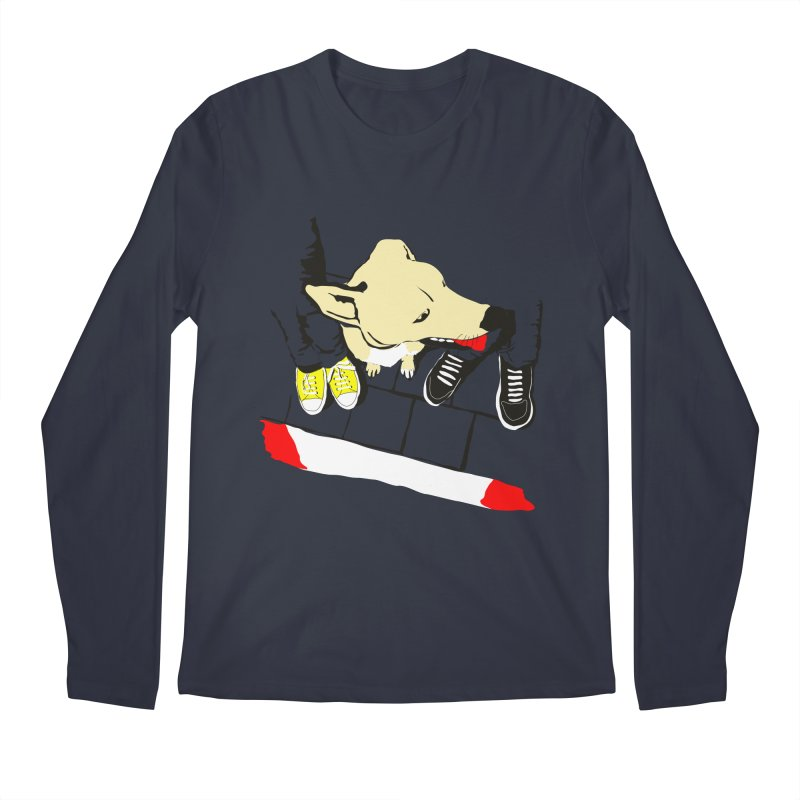 Sneakers & Dogs Men's Regular Longsleeve T-Shirt by Boshik's Tshirt Shop