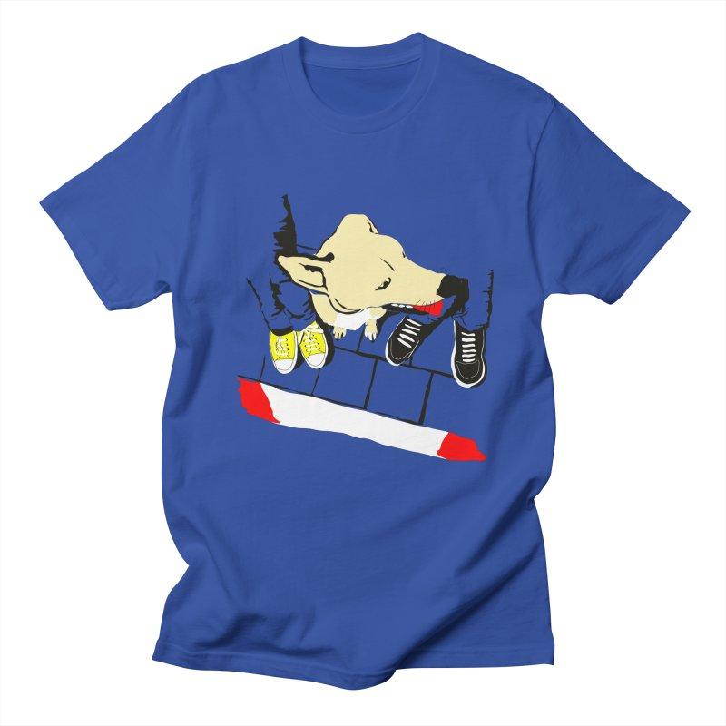 Sneakers & Dogs Men's Regular T-Shirt by Boshik's Tshirt Shop