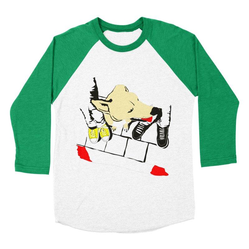 Sneakers & Dogs Women's Baseball Triblend Longsleeve T-Shirt by Boshik's Tshirt Shop