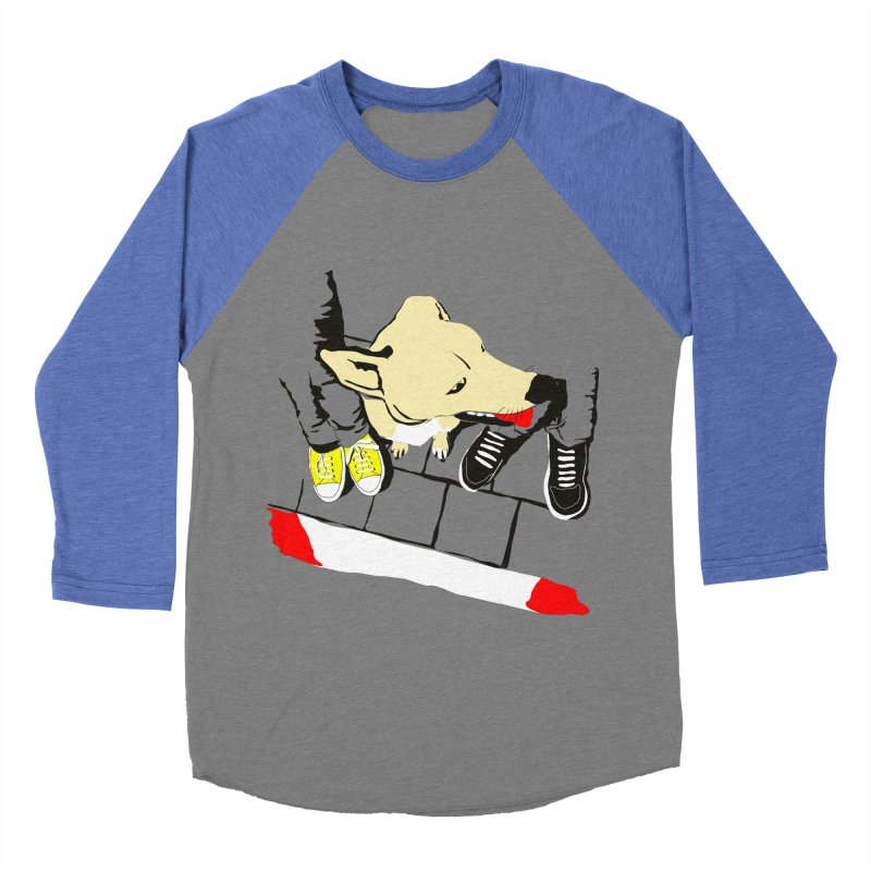 Sneakers & Dogs Men's Baseball Triblend T-Shirt by Boshik's Tshirt Shop
