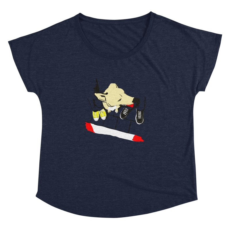 Sneakers & Dogs Women's Dolman by Boshik's Tshirt Shop