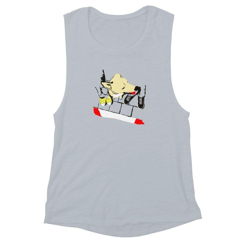 Sneakers & Dogs Women's Muscle Tank by Boshik's Tshirt Shop