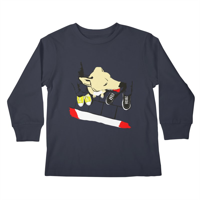 Sneakers & Dogs Kids Longsleeve T-Shirt by Boshik's Tshirt Shop