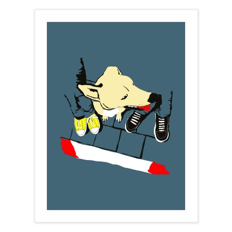 Sneakers & Dogs Home Fine Art Print by Boshik's Tshirt Shop