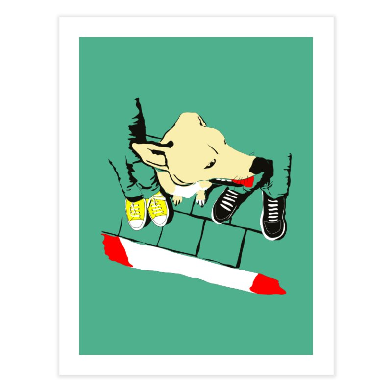 Sneakers & Dogs Home Fine Art Print by Boshik's Tshirt Shop