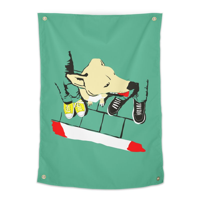 Sneakers & Dogs Home Tapestry by Boshik's Tshirt Shop