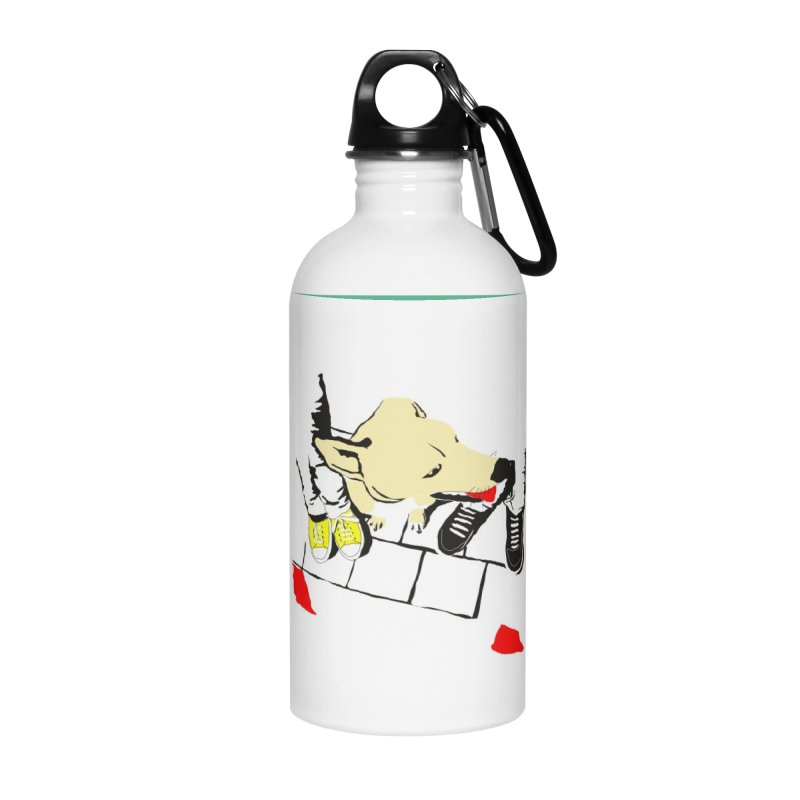 Sneakers & Dogs Accessories Water Bottle by Boshik's Tshirt Shop