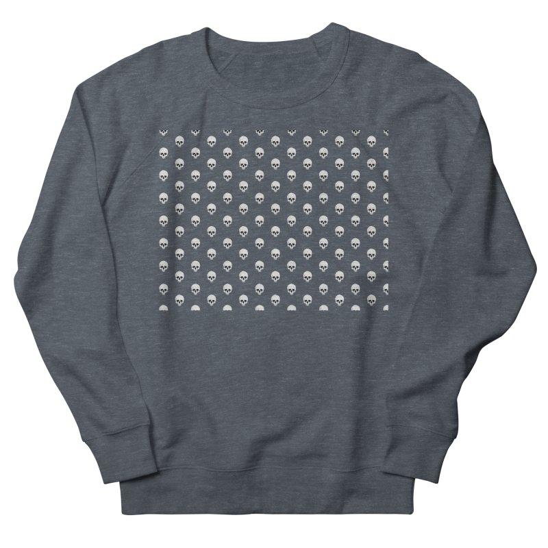 Skull Texture Men's French Terry Sweatshirt by Boshik's Tshirt Shop