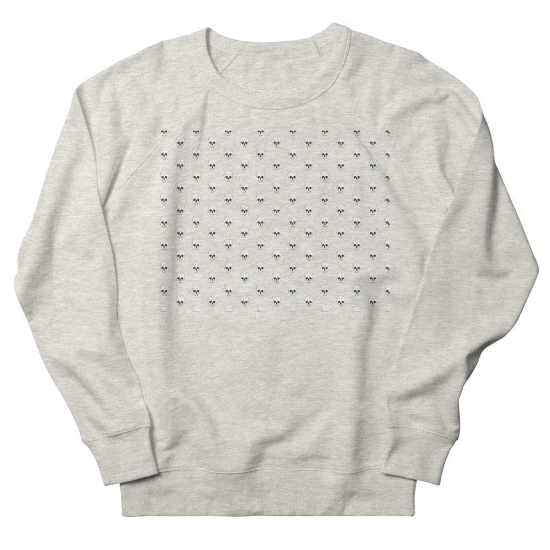 Skull Texture Men's French Terry Sweatshirt by Boshik's Tshirt Shop