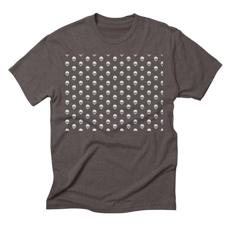 Skull Texture Men's Triblend T-Shirt by Boshik's Tshirt Shop
