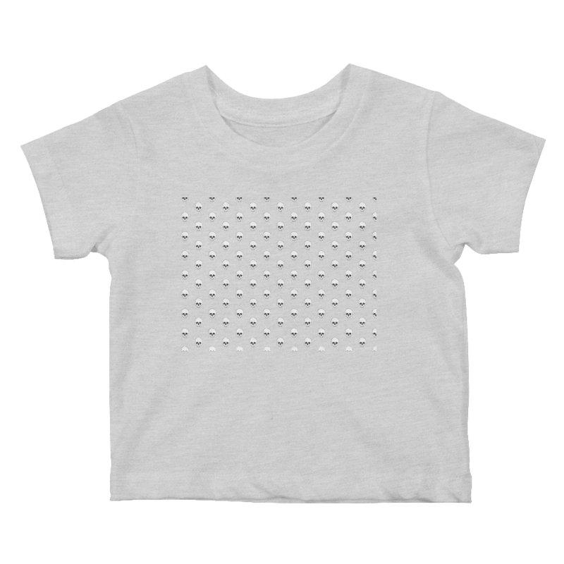 Skull Texture Kids Baby T-Shirt by Boshik's Tshirt Shop