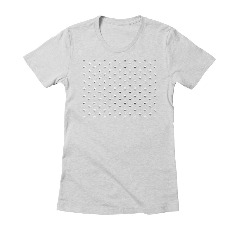 Skull Texture Women's Fitted T-Shirt by Boshik's Tshirt Shop