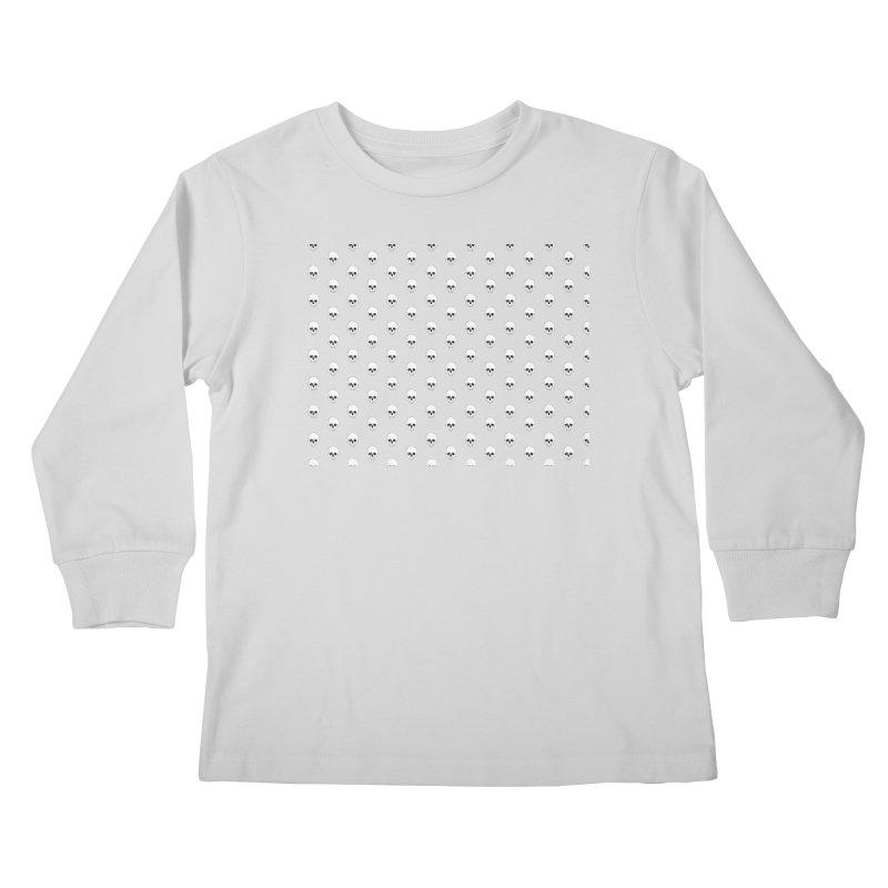 Skull Texture Kids Longsleeve T-Shirt by Boshik's Tshirt Shop