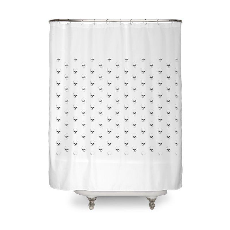 Skull Texture Home Shower Curtain by Boshik's Tshirt Shop