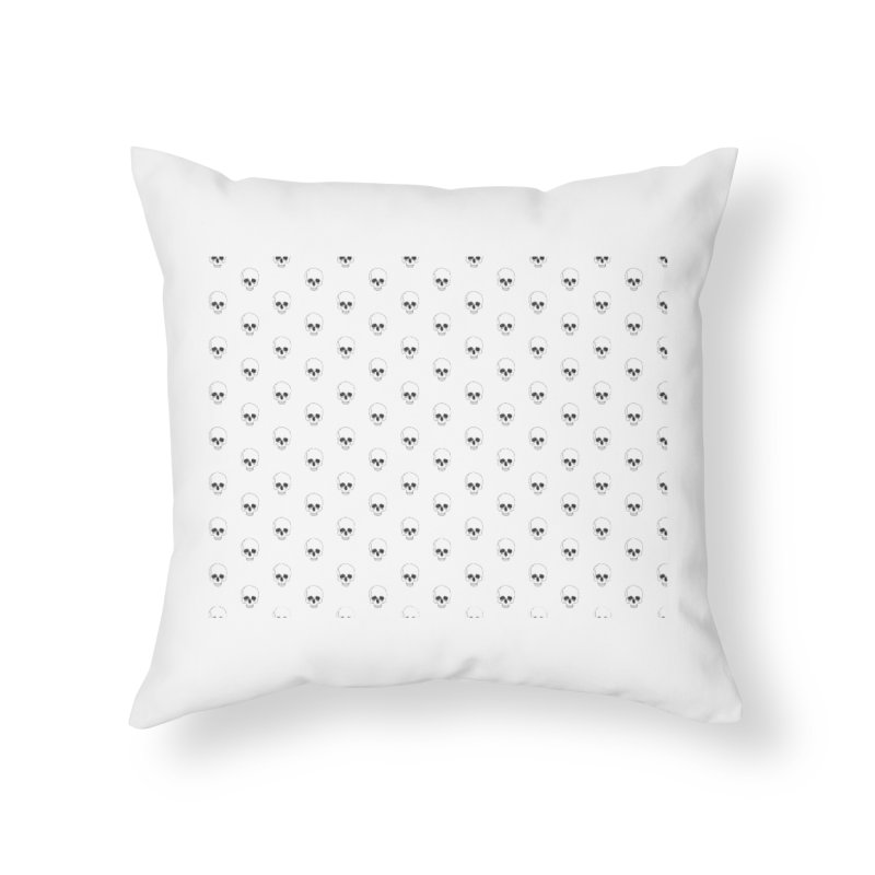 Skull Texture Home Throw Pillow by Boshik's Tshirt Shop