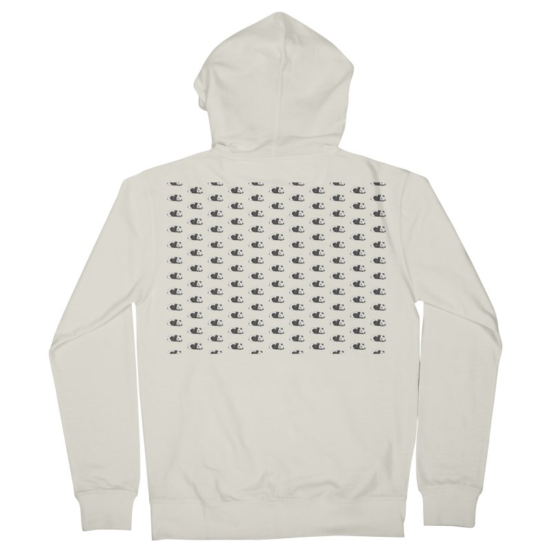 Panda Pattern Men's French Terry Zip-Up Hoody by Boshik's Tshirt Shop