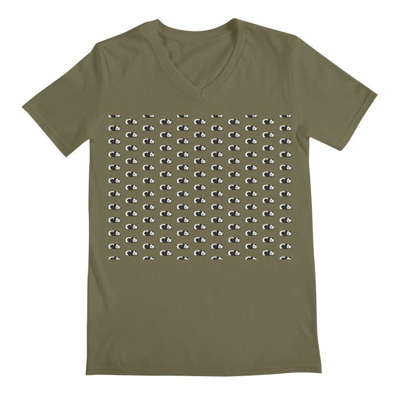Panda Pattern Men's Regular V-Neck by Boshik's Tshirt Shop
