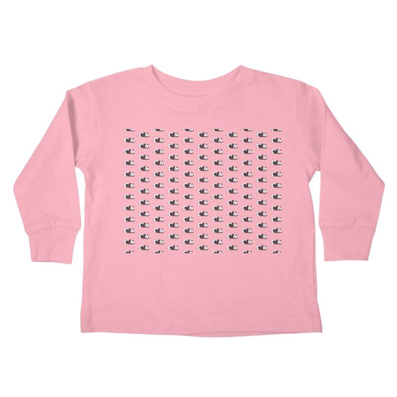 Panda Pattern Kids Toddler Longsleeve T-Shirt by Boshik's Tshirt Shop