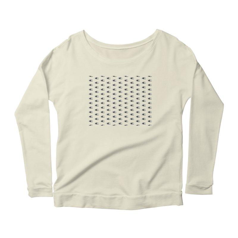 Panda Pattern Women's Scoop Neck Longsleeve T-Shirt by Boshik's Tshirt Shop
