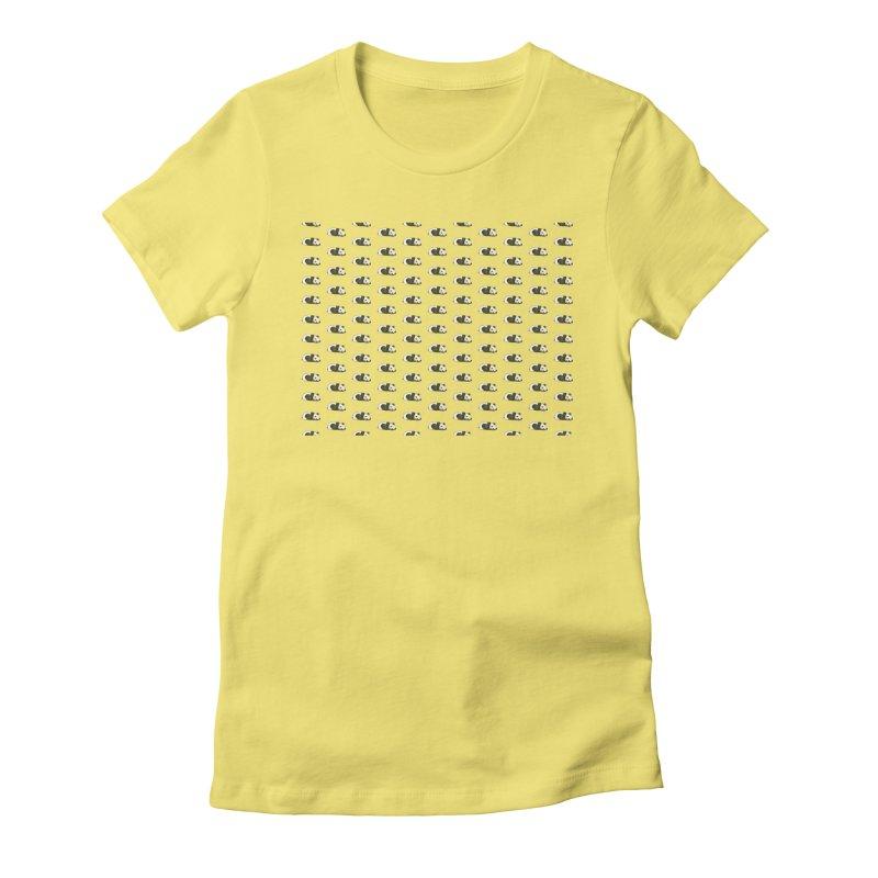 Panda Pattern Women's Fitted T-Shirt by Boshik's Tshirt Shop