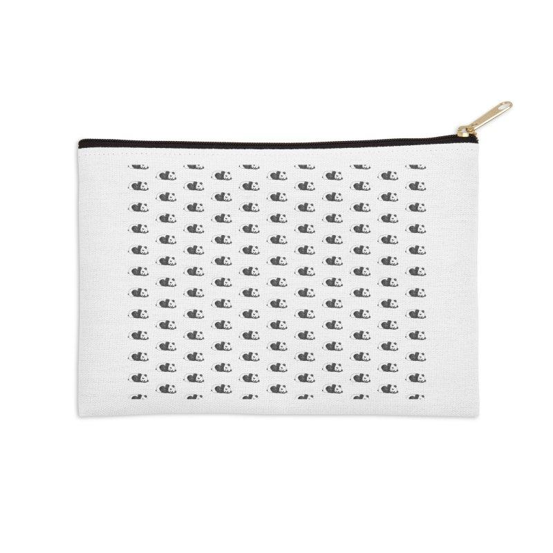 Panda Pattern Accessories Zip Pouch by Boshik's Tshirt Shop