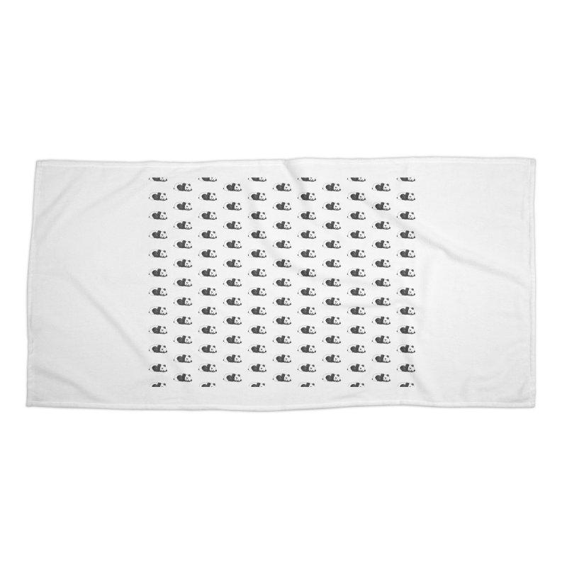 Panda Pattern Accessories Beach Towel by Boshik's Tshirt Shop