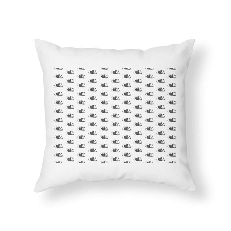 Panda Pattern Home Throw Pillow by Boshik's Tshirt Shop