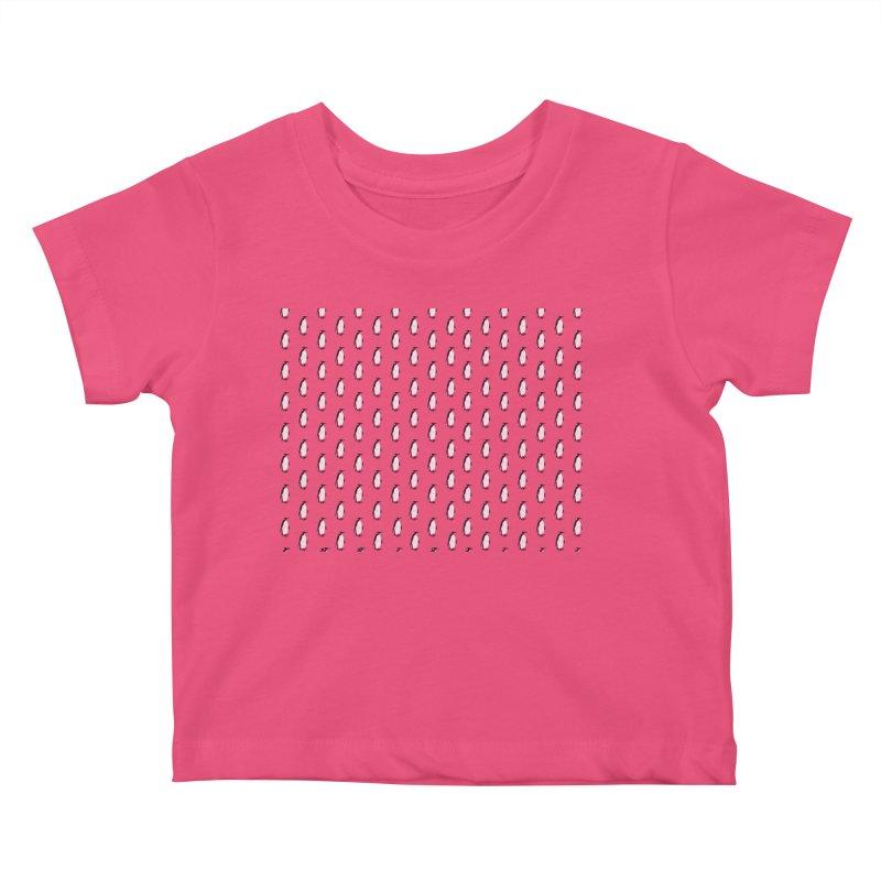 Penguin Texture Kids Baby T-Shirt by Boshik's Tshirt Shop