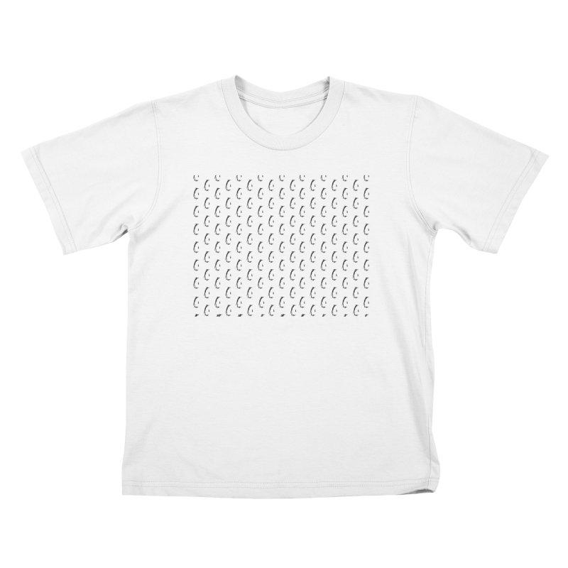 Penguin Texture Kids T-Shirt by Boshik's Tshirt Shop