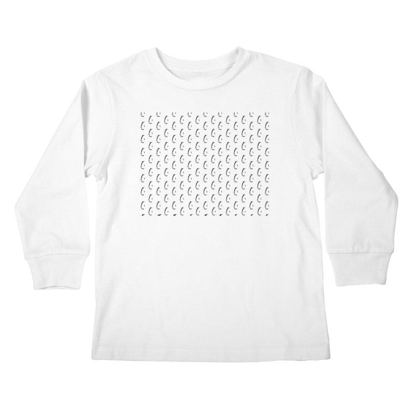 Penguin Texture Kids Longsleeve T-Shirt by Boshik's Tshirt Shop