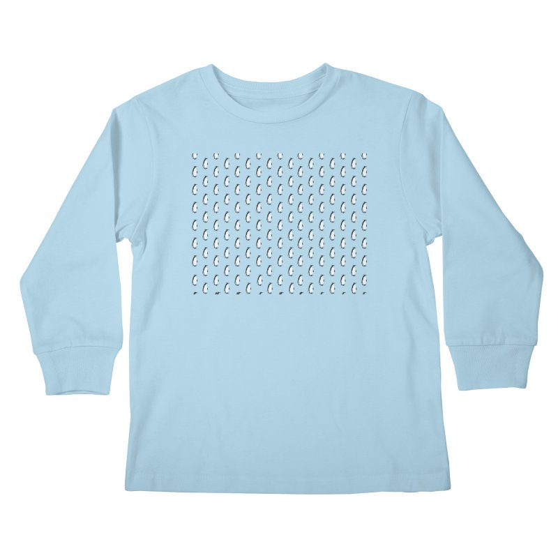 Penguin Texture Kids Longsleeve T-Shirt by Boshik's Tshirt Shop