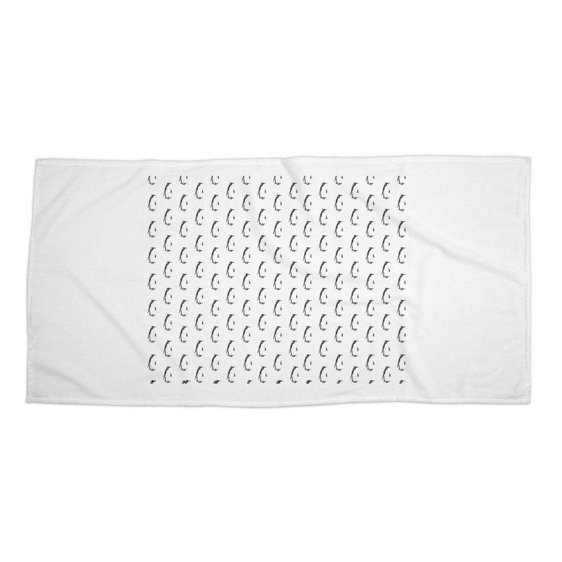 Penguin Texture Accessories Beach Towel by Boshik's Tshirt Shop
