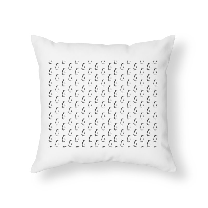 Penguin Texture Home Throw Pillow by Boshik's Tshirt Shop