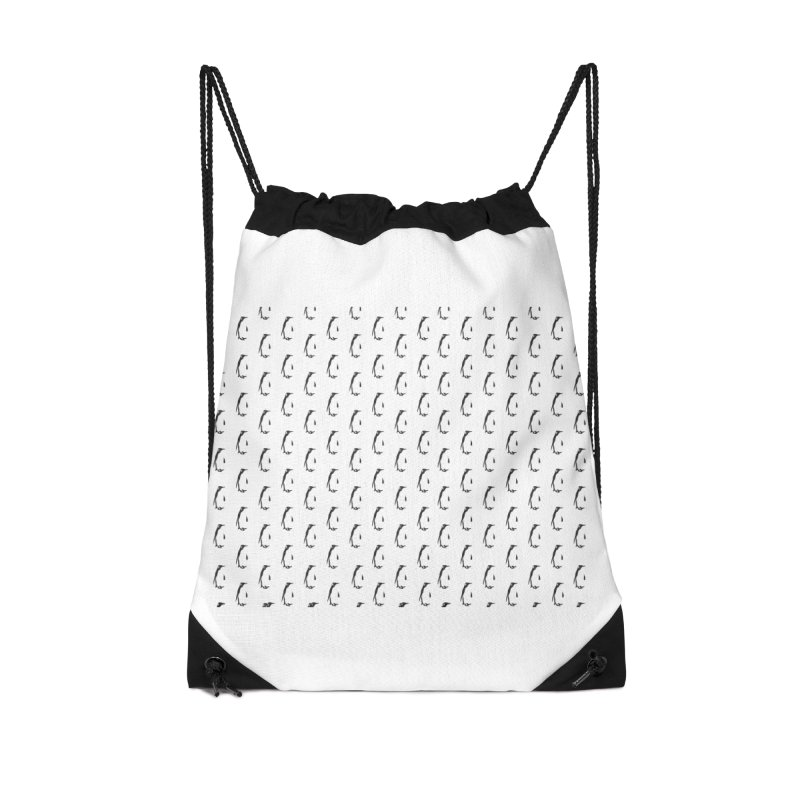 Penguin Texture Accessories Drawstring Bag Bag by Boshik's Tshirt Shop