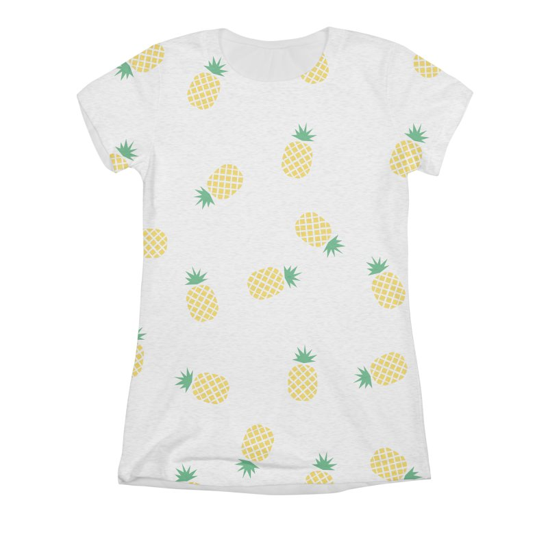 Pineapples Everywhere Women's Triblend All Over Print by Boshik's Tshirt Shop