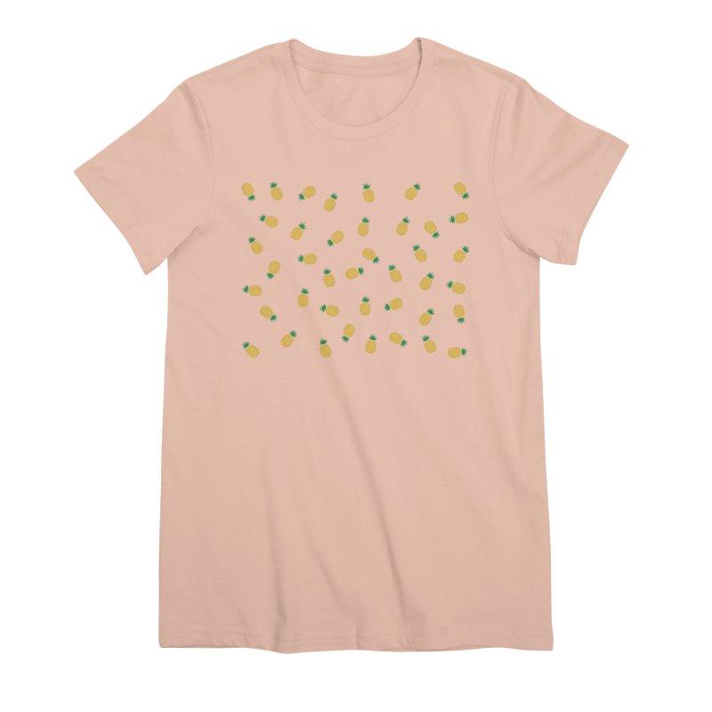 Pineapples Everywhere Women's Premium T-Shirt by Boshik's Tshirt Shop