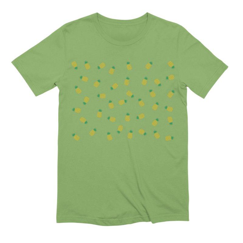 Pineapples Everywhere Men's Extra Soft T-Shirt by Boshik's Tshirt Shop
