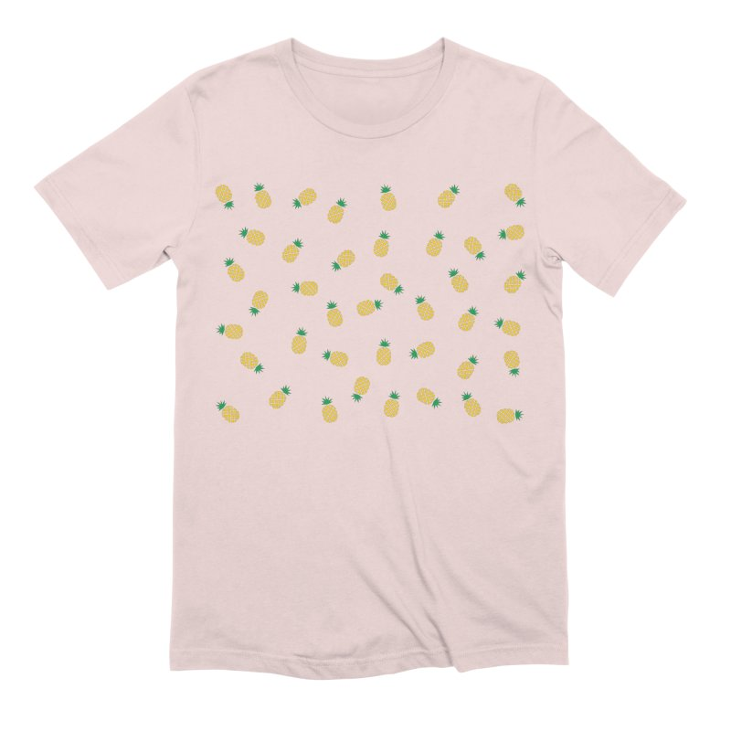 Pineapples Everywhere Men's Extra Soft T-Shirt by Boshik's Tshirt Shop
