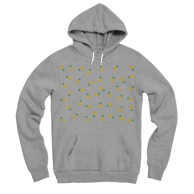 Pineapples Everywhere Men's Sponge Fleece Pullover Hoody by Boshik's Tshirt Shop