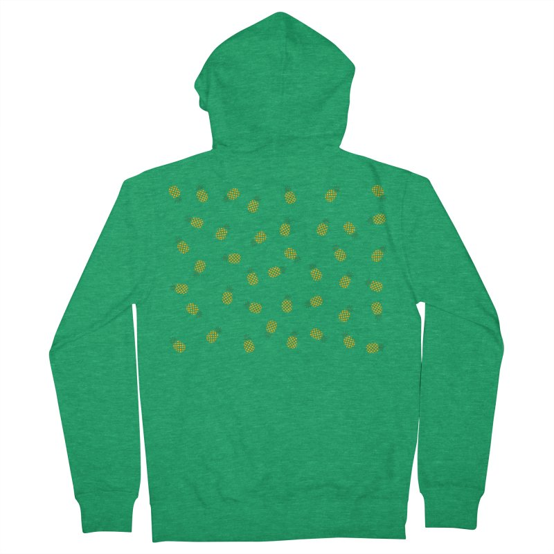 Pineapples Everywhere Women's Zip-Up Hoody by Boshik's Tshirt Shop