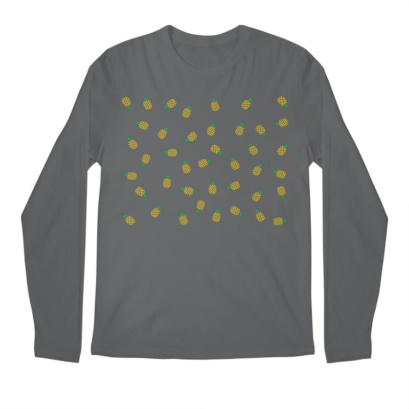Pineapples Everywhere Men's Longsleeve T-Shirt by Boshik's Tshirt Shop