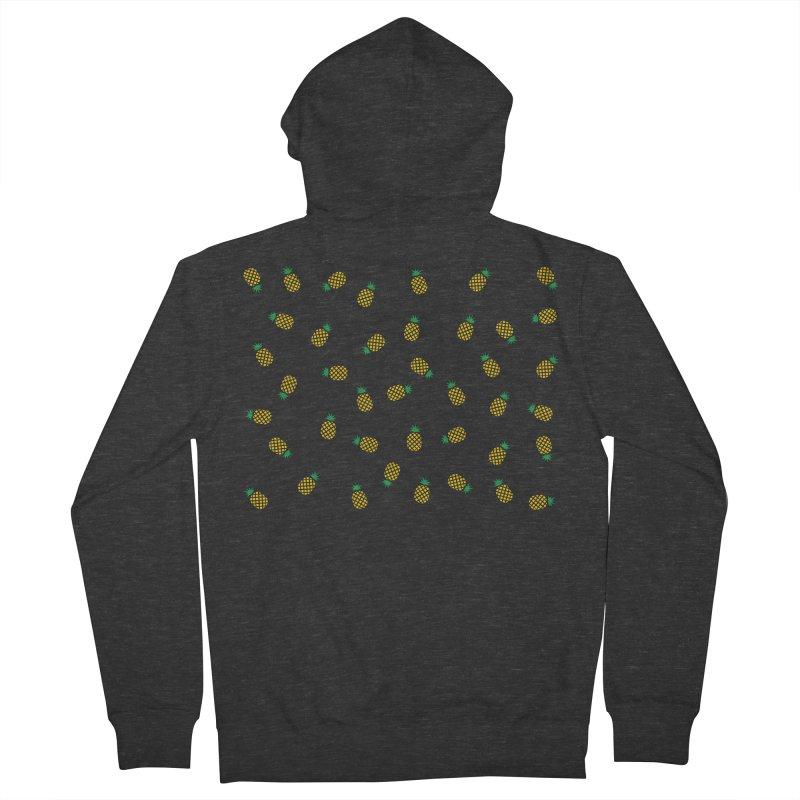 Pineapples Everywhere Women's French Terry Zip-Up Hoody by Boshik's Tshirt Shop