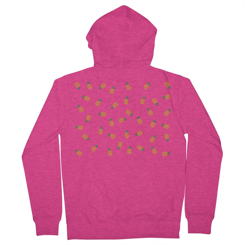 Pineapples Everywhere Women's French Terry Zip-Up Hoody by Boshik's Tshirt Shop