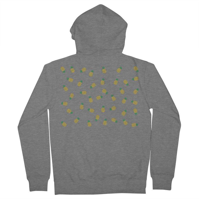 Pineapples Everywhere Men's Zip-Up Hoody by Boshik's Tshirt Shop