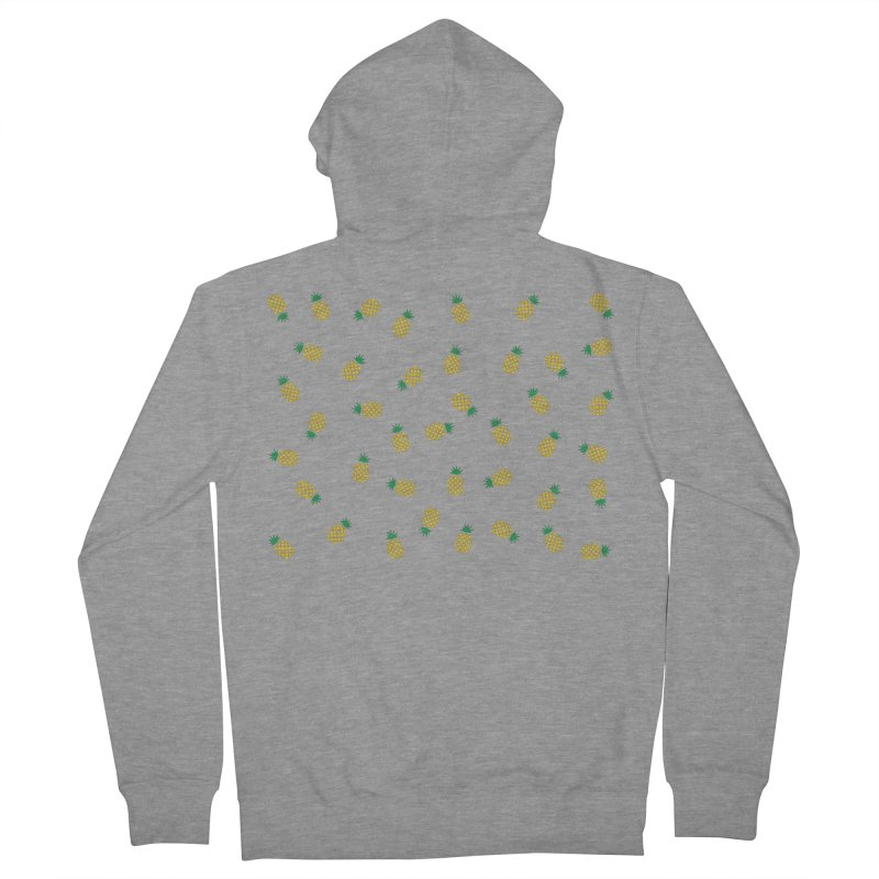 Pineapples Everywhere Men's French Terry Zip-Up Hoody by Boshik's Tshirt Shop