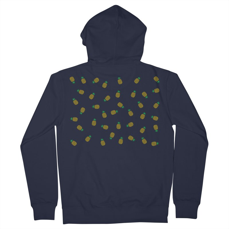 Pineapples Everywhere Men's Zip-Up Hoody by Boshik's Tshirt Shop