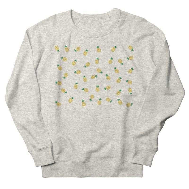Pineapples Everywhere Women's French Terry Sweatshirt by Boshik's Tshirt Shop