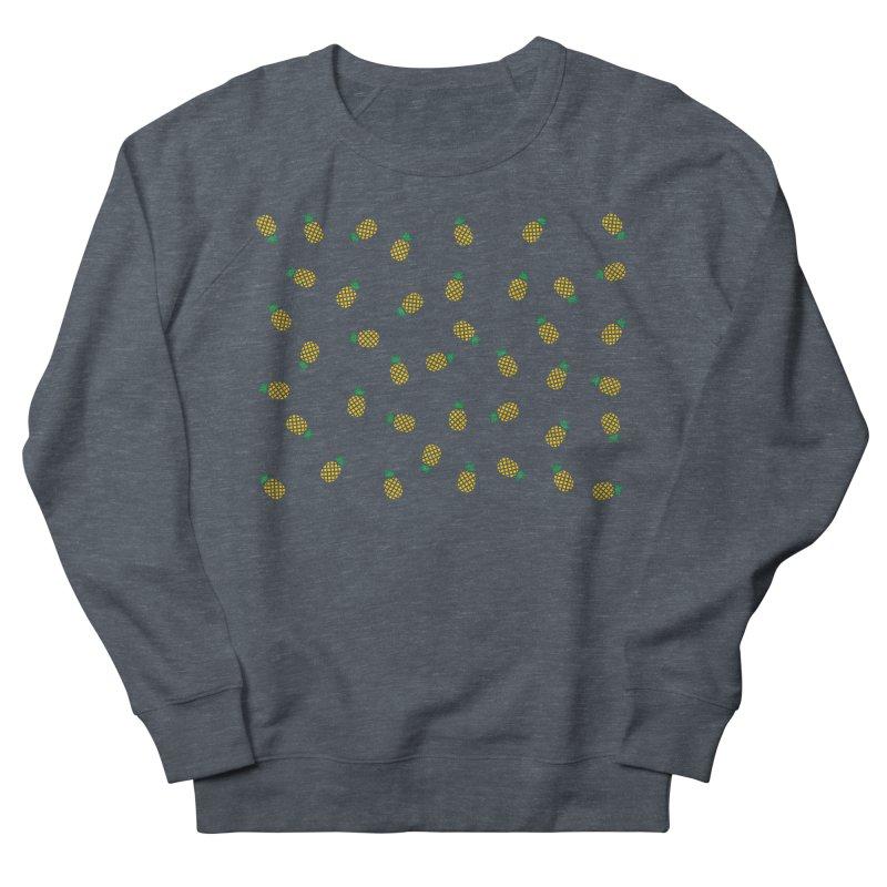 Pineapples Everywhere Men's French Terry Sweatshirt by Boshik's Tshirt Shop