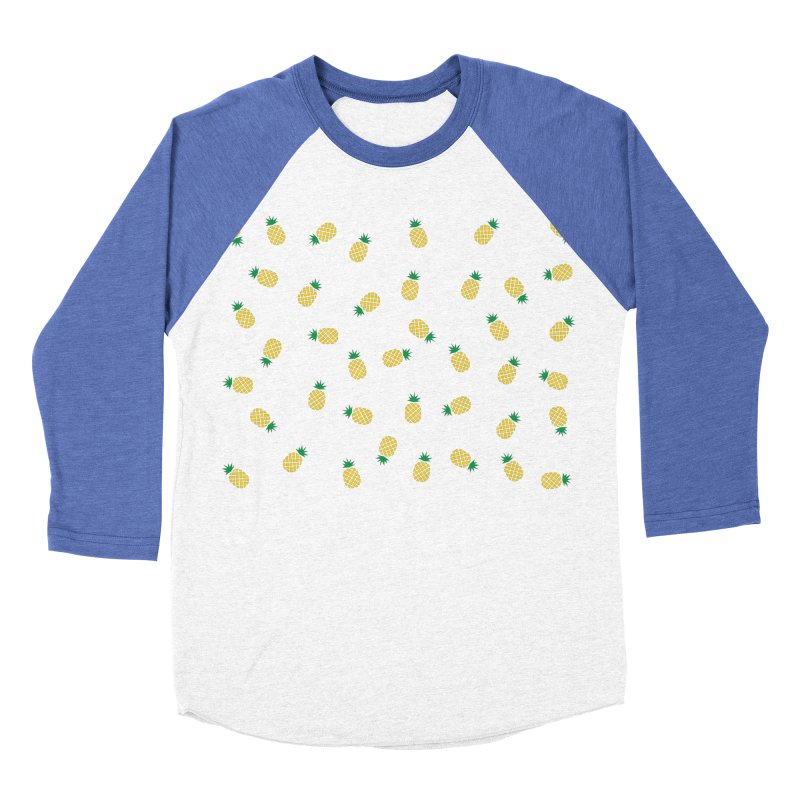 Pineapples Everywhere Women's Baseball Triblend Longsleeve T-Shirt by Boshik's Tshirt Shop