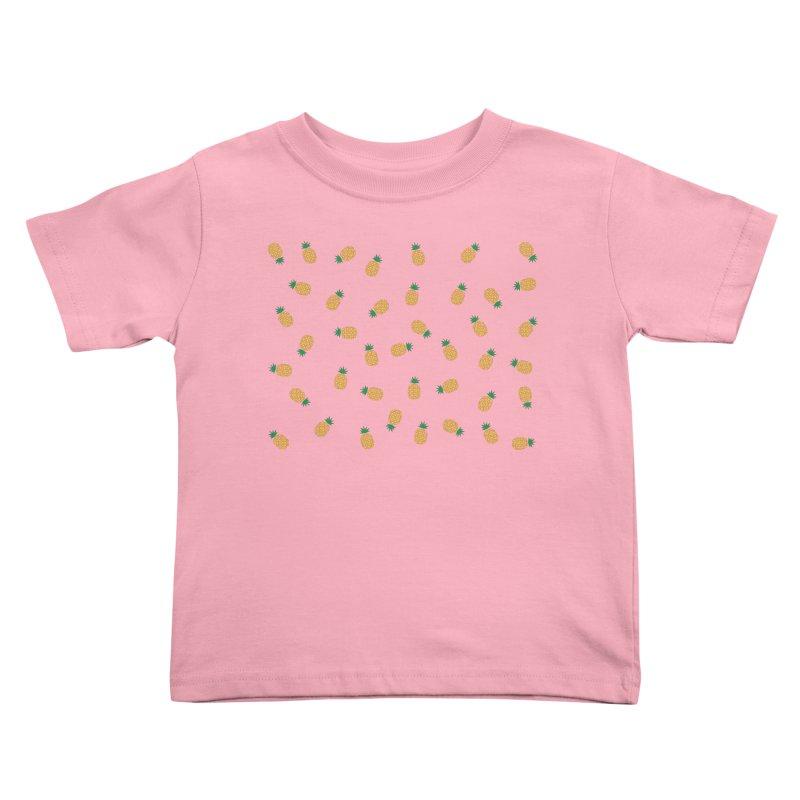 Pineapples Everywhere Kids Toddler T-Shirt by Boshik's Tshirt Shop